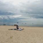 Strandleben in Leesi.