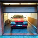 Und ab in die Garage.