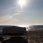 ... mit Strand, ...