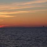 Sonnenuntergang auf der Nehrung.